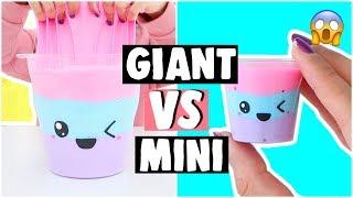 EXTREME GIANT SLIME VS MINI SLIME?! DIY Fluffy Slime Recipe!