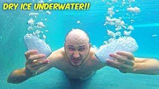 Dry Ice Underwater!