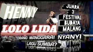 Lolo lida - Suara Emas Dari Manggarai nyanyi lagu daerah Sumba - Juara 3 Festival IBU