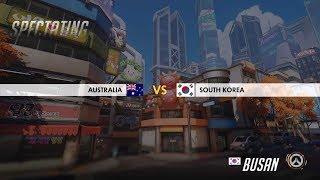 South Korea vs Australia (Game 1, Jjonak Play) | Overwatch World Cup 2018: Quarter Final