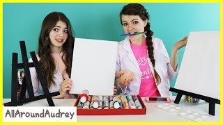 Audrey and Jordan Paint Portraits of Each Other! / AllAroundAudrey