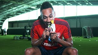 Arsenal stars take on a Retro Games challenge