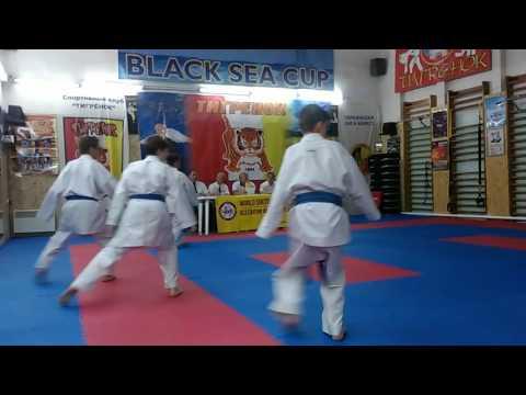 Аттестация по каратэ на коричневые и черные пояса. Кихон на 3 Кю Экзамен 26.06.2016