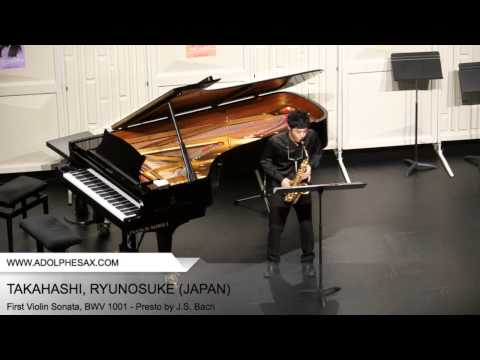 Dinant 2014 - TAKAHASHI, RYUNOSUKE (First Violin Sonata, BWV 1001 - Presto by J.S. Bach)