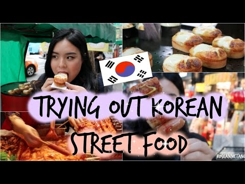 Trying Out Korean Street Food in Seoul! | roseannetangrs