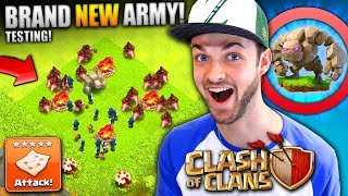 THE BEST ATTACK? - NEW ARMY STRATEGY! - Clash of Clans