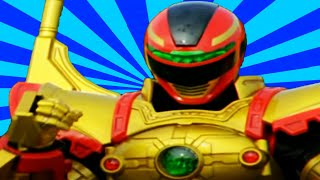 Power Rangers - All Red Ranger Battlizer Transformations and Finishers | In Space to Ninja Steel