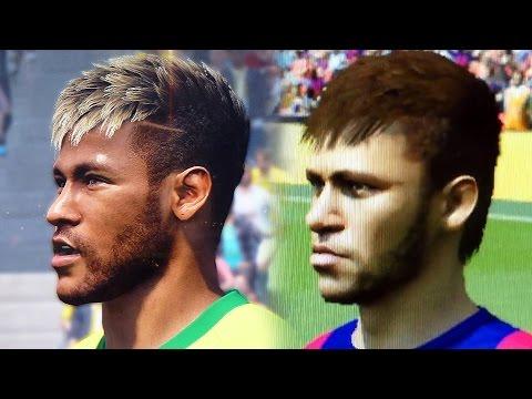 Fifa 15 vs PES 2015 Face Comparison   Head to Head Faces (of Gamescom)