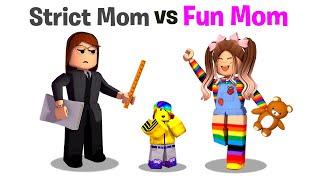 Roblox STRICT Mom vs FUN Mom.. 📝👧💖