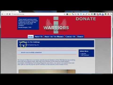 iWarriors - Add Sponsor to Website