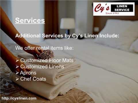 Commercial Linen Services Florida | Cy's Linen