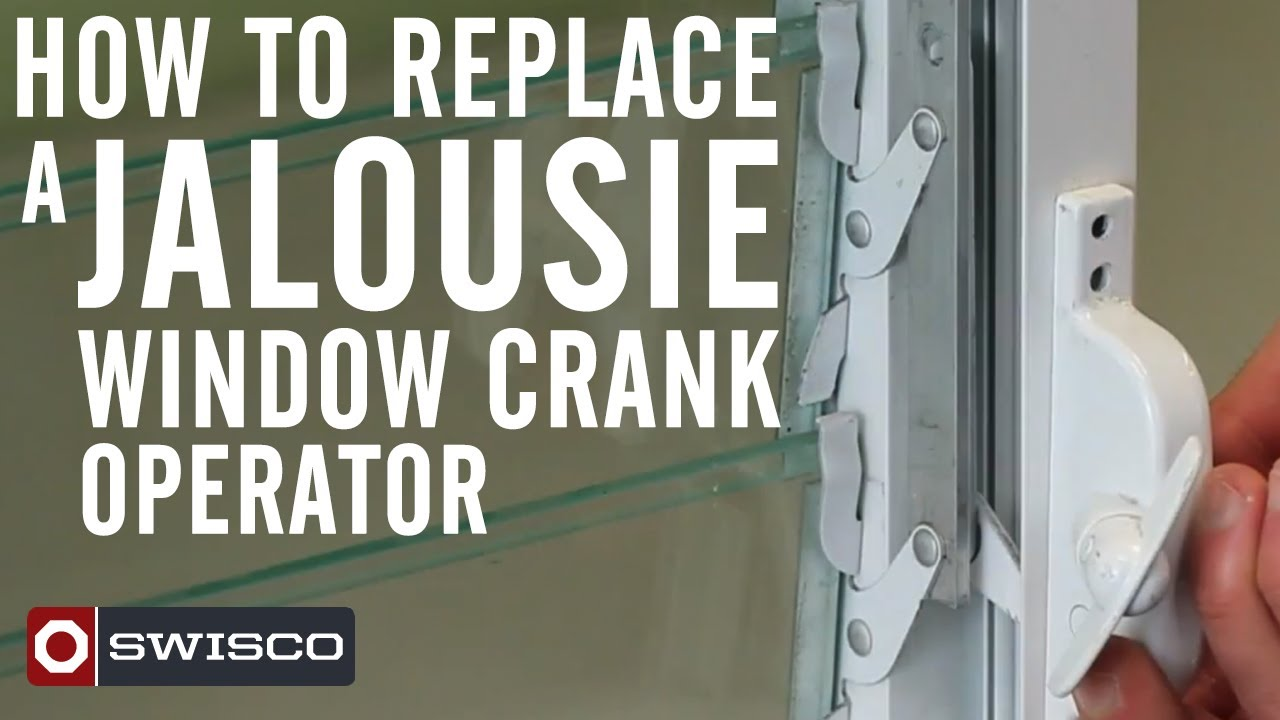 How To Replace A Jalousie Window Crank Operator Youtube