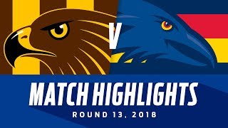 Hawthorn v Adelaide Highlights   Round 13, 2018   AFL