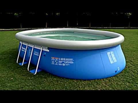 montage d 39 une piscine hors sol autoportante bestway musica movil. Black Bedroom Furniture Sets. Home Design Ideas