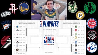 MY 2019 NBA PLAYOFF BRACKET!! WHO WILL WIN THE FINALS?? WARRIORS 3 PEAT?? UPSETS??