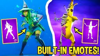 7 Fortnite SKINS With Their *EXCLUSIVE* EMOTES..! *BUILT-IN EMOTES*