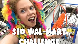 FOLLOW ME AROUND! $10 WAL-MART CHALLENGE!
