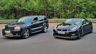 1000HP Jeep SRT8 VS 920HP Nissan GT-R. Московская Миля