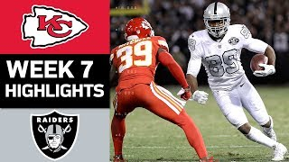 Chiefs vs. Raiders   NFL Week 7 Game Highlights