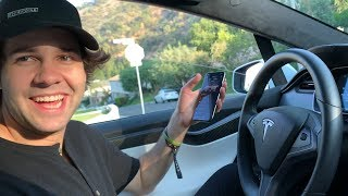 David Dobrik Reviews a Tesla Model X with Me