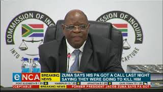 Zondo responds to Zuma death threats claim