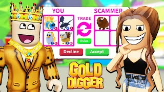 GOLD DIGGER *SCAMMED ME* IN ROBLOX ADOPT ME!