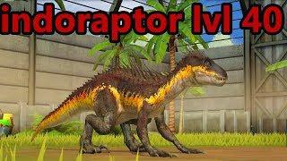 Jurassic World Game Mobile #135: Evolution max lvl 40 Indoraptor 3x