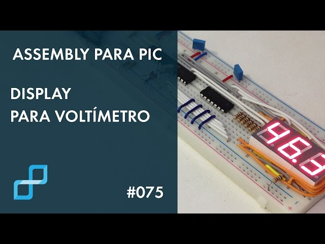 DISPLAY PARA VOLTÍMETRO | Assembly para PIC #075