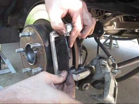 honda accord rear brake pad change youtube
