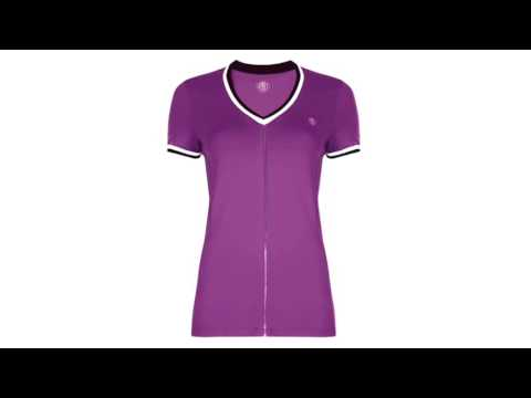 Poivre Blanc Womens Tennis T Shirt In Orchid Violet