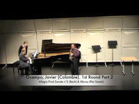 Ocampo, Javier (Colombie). 1st Round Part 2