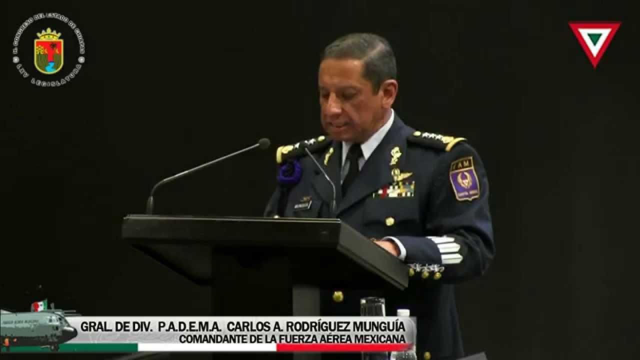 """Inscripción Letras Doradas """"2015, Centenario de la Fuerza Aérea Mexicana"""" 17 Marzo 2015"""