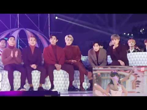 161119 Exo and BTS Reaction to Red Velvet Russian Roulette @MMA