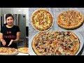 How to make Cheese Stuffed Crust Pizza Pie & Veggie Lovers Pizza Pie Video Recipe | Bhavnas Kitchen