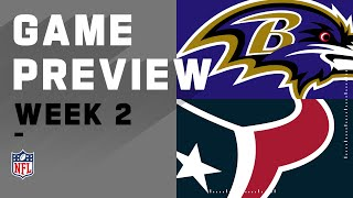 Baltimore Ravens vs. Houston Texans Week 2 NFL Game Preview