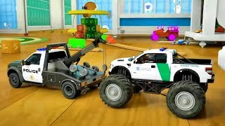 Learn Shapes with Police Truck - Rectangle Tyres Assemby - Cartoon for Children 3D Part #2