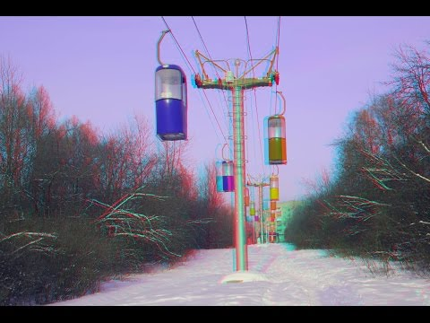 Winter Forest 3D ! Cableway ! 3D Photo