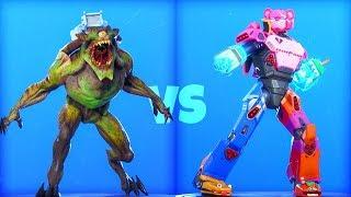 *NEW* MONSTER vs. MECHA ROBOT..! (With LEAKED Emotes) Fortnite Battle Royale
