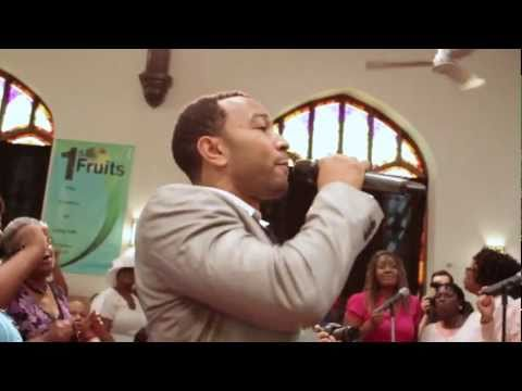 John Legend surprises Baptist Church in West Philly (