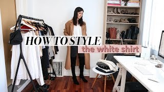 HOW TO STYLE A WHITE SHIRT - 20 Outfit Ideas | Mademoiselle
