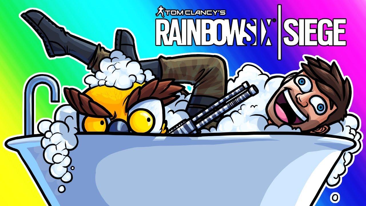 Rainbow Six Siege Funny Moments - Scrubs in a Tub!