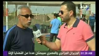 فيديو..الكابتن أحمد شوبير يشارك في مبارة للمكفوفين لدعمهم وهو معصوب العينين -