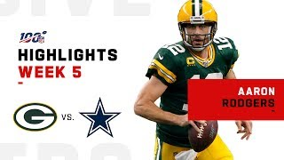 Aaron Rodgers Highlights vs. Cowboys | NFL 2019