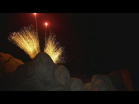 4th of July fireworks Mt. Rushmore: full video