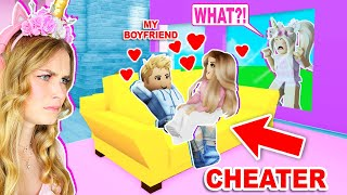 I WAS *SECRETLY* SPYING ON MY BOYFRIEND AND CAUGHT HIM CHEATING IN BROOKHAVEN! (ROBLOX)