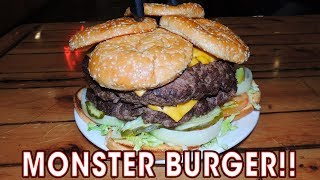 Monster Burger Challenge in Las Cruces, New Mexico!!