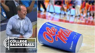 Ole Miss furious after Tennessee wins on late shot, charge call | College Basketball Highlights