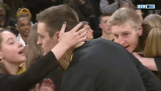 Iowa Basketball Honors Nicholas Baer on Senior Day | B1G Basketball