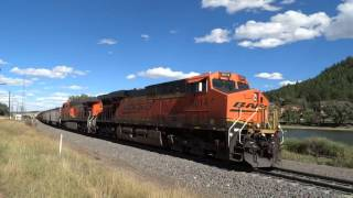 Southbound BNSF Coal Train Breaks Apart at Palmer Lake