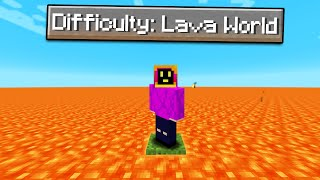 Can You Beat Minecraft, But The Entire World Is Lava?